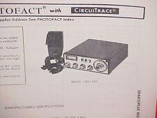 1978 SHAKESPEARE CB RADIO SERVICE SHOP MANUAL MODEL GBS-240
