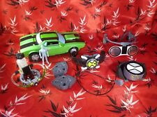 Ben 10 Alien Voice Changer 2 Ban Dai 2006 and Omnitrix FX Watch LOT Plus Car Ect