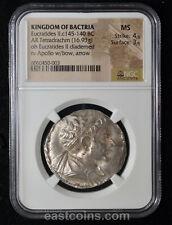 NGC MS  (ca. 145-140 BC) BACTRIAN KINGDOM Eucratides II Soter Silver tetradrachm