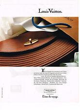 PUBLICITE ADVERTISING 084  1990  LOUIS VUITTON  bagages sacs & accessoires