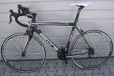 BEONE Diabolo Sport Rennrad Schwarz/Weiß Shimano 105, T700 Carbon, FSA  - 53cm