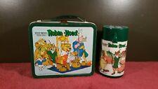 VINTAGE METAL LUNCHBOX 1974 WALT DISNEY ROBIN HOOD WITH THERMOS!!!