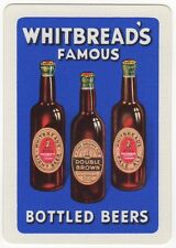 Playing Cards 1 Swap Card Old Wide WHITBREADS Famous BOTTLED BEERS Brewery Beer