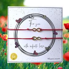 Infinite Love 2pcs Red String Couple Bracelet Adjustable Handmade Gift Matching