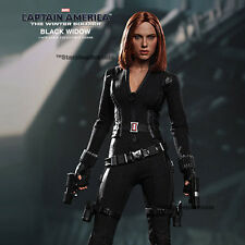 "CAPTAIN AMERICA - The Winter Soldier Black Widow 1/6 Action Figure 12"" Hot Toys"