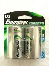 Energizer Recharge NH50BP D Batteries 2 Pack