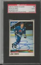 Joe Sakic 1990 Panini Stickers Autograph #139 SGC Nordiques