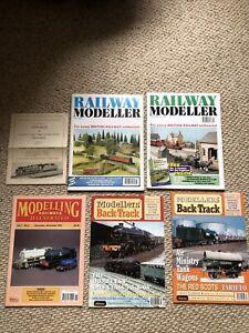 5 x MODELLERS BACK TRACK / RAILWAY MODELLER MAGAZINE 1992 - 2003 B05