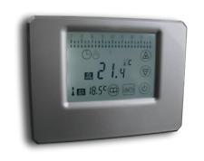 Thermostat m. Touchscreen silber  Aufputz potentialfreier Kontakt Batterie #z750