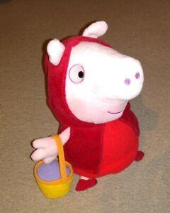 "Peppa Pig's 11"" LITTLE RED RIDING HOOD PEPPA PIG Soft Plush Toy"