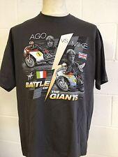 "Giacamo Agostini v's Mike Hailwood ""Battle of the Giants""  T-SHIRT Grey, Large"
