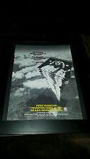 Peter Frampton Comes Alive Rare Original Promo Poster Ad Framed!