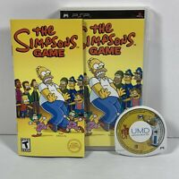 The Simpsons Game (Sony PSP, 2007) - Complete  CIB With Manual