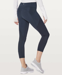 """Lululemon All The Right Places Crop Leggings - Size 8 - High Waist 23"""" PERFECT"""