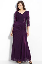 NWOT  purple  Adrianna Papell Beaded Mesh Gown size 22W
