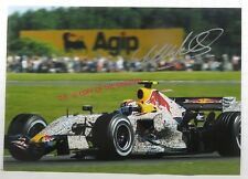 PHOTO cm 13x18 signed by Mark Webber RED BULL RENAULT RB3 #15 F1 2007 BRITISH GP