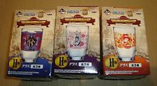 ONE PIECE GLASS SET DOFLAMINGO/VIOLET/SANJI/PORTGAS.D.ACE BANPRESTO 2014