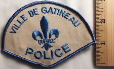VILLE DE GATINEAU QUEBEC POLICE PATCH (SHERIFF, HIGHWAY PATROL, EMS)