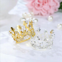 Mini Krone Kuchen Topper Strass Perle Tiara Kinder Haar Ornaments Party Supply