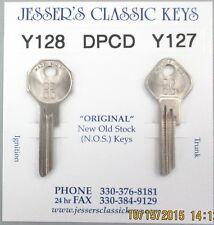 DPCD Y128 Y127 PLYMOUTH  NOS Nickel Keys 1938 1939 1940 1941 1942