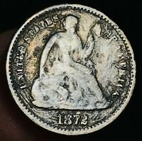 1872 (S) Seated Liberty Half Dime 5C Ungraded Good Date Silver US Coin CC4366