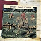 """Jacquard Loomed Tapestry & back coordinate, """"The Hunt"""" 18x18"""