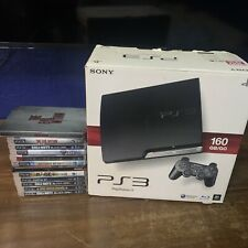 Sony Playstation 3 *Ps3*, 160Gb Scatola Originale, 2 Controller +cavi 10 Giochi.