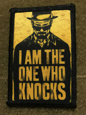 I Am the One Who Knocks Breaking Bad Morale Patch  Tactical Military Army Badge