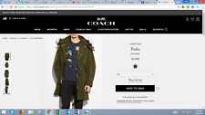 AUTHENTIC COACH WINTER WEAR / MEN'S MILITARY (GREEN) PARKA STYLE #59589