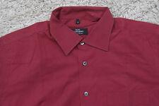 Studio Leonardo Größe L 41 42 - Rot - Herren Hemd Herrenhemd H74