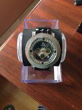NEW TECHNO MASTER  DIAMOND WATCH TM-2108 BLACK