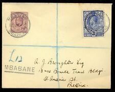 SWAZILAND 1933 REGISTERED COMBINATION COVER TO SOUTH AFRICA.SCARCE. A494