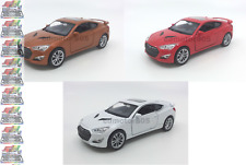 Hyundai GENESIS Coupe 1:34-1:39 Die Cast Car White/Red/Gold Collection New