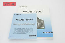 Canon EOS 450D Instruction Manual / Bedienungsanleitung German / Deutsch