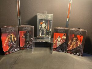 Lot Of 5 Hasbro Star Wars Black Series Action Figures. All New In The Box!