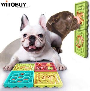 Pet Slow Feeder Dog Food Tray Pet Lick Pad Non-Slip Bottom Slow Dispensing Mat