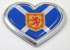 Scotland HEART Flag Chrome Emblem Car Decal Sticker Badge Bumper Scottish
