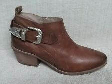 STEVE MADDEN - BRADI - Women's Ankle Boots Bootie - COGNAC Leather - Size 7.5