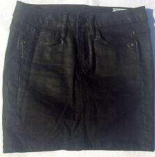 NEW - NWOT - RRP$229- Womens G-Star Raw '3301 LONG MINI SKIRT' Dark Coated Skirt