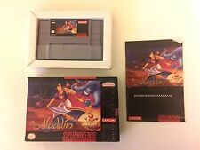 Disney's Aladdin Super Nintendo 1993 SNES  DISNEY CAPCOM JAFAR ABU CIB COMPLETE