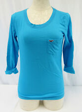 New Hollister Blue 3/4 Sleeve T-Shirt With Pocket Junior's Size X-Small
