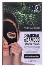Morgan Miller Charcoal & Bamboo Sheet Mask, 5 masks (Pack of 2)