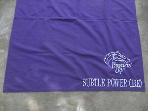 """2000 - Breeders Cup """"SUBTLE POWER"""" Saddle Cloth in Excellent Condition"""