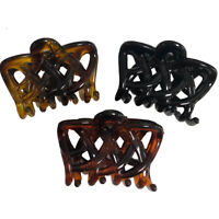 Hair Claw Clips Clamp Catcher Crisscross Banana Women Clutches Hairstyle Hold UP