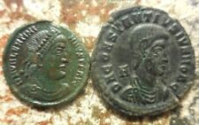Lot of 2 About EF for Type Coins, Valentinian I and a 25 mm Constantius Gallus