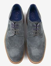Ted Baker London Mens Hontaar Oxford Wingtip Brogue Shoe Gray Suede Size 8 M NEW