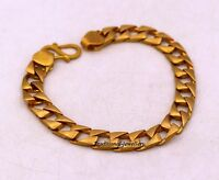 6 MM AUTHENTIC 22K SOLID GOLD CUBAN LINK CHAIN MEN'S STYLISH BRACELET ALL SIZES