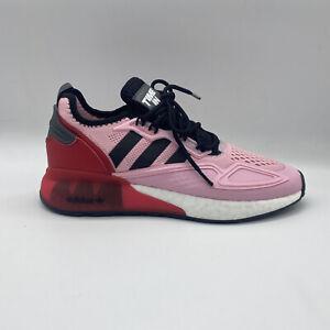 Adidas x Ninja ZX 2K Boost True Pink Core Black White Men's Run FZ0454 Size 10