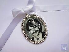 Rhinestone Wedding Bouquet Photo Memory Charm Crystals Bridal Keepsake