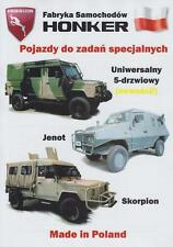 HONKER SPECIAL MILITARY VEHICLES 2015 BROCHURE PROSPEKT FOLDER